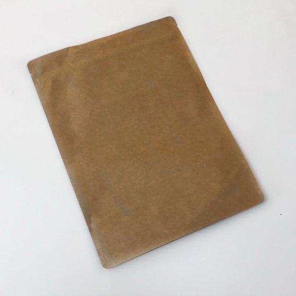 Standbodenbeutel aus Kraftpapier & Druckverschluss